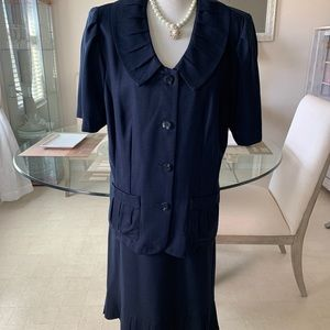 2 pc T. Milano Skirt Suit with Ruffle Top